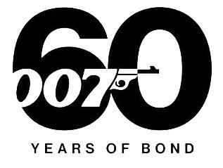 Het logo voor 60 jaar James Bondfilms