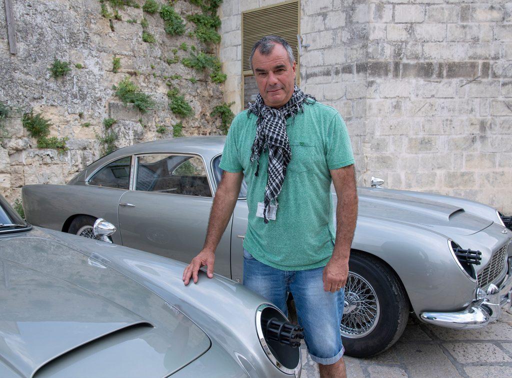 Chris Corbould tijdens de opnames in Matera.